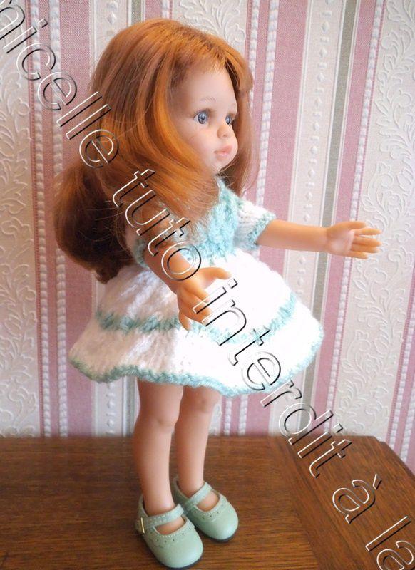 tuto gratuit poupée : robe tressée