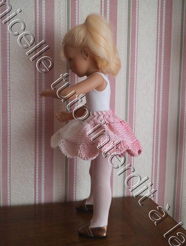 tuto gratuit poupée : jupe printanière , à bord tulipe