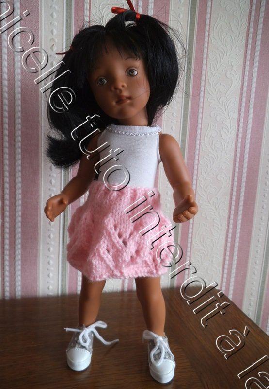 tuto gratuit poupée : jupe ajourée