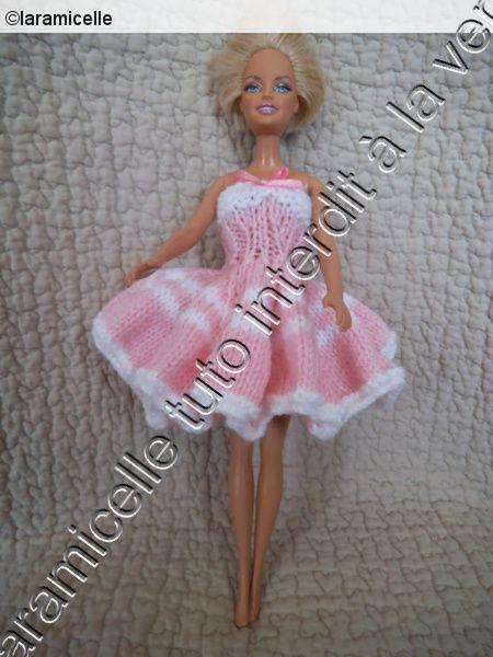 tuto gratuit barbie : robe envolée rose
