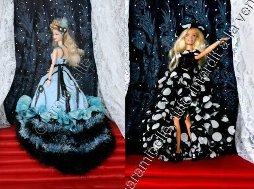tutos gratuits Barbie : robes de princesse
