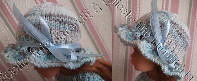 tuto gratuit poupée; chapeau aux jours d'hirondelle