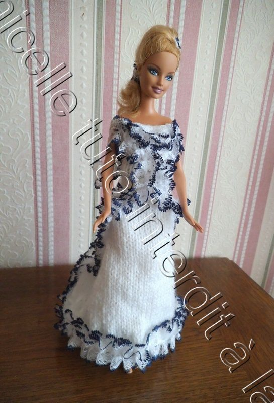 tuto gratuit Barbie : robe princesse Margotte