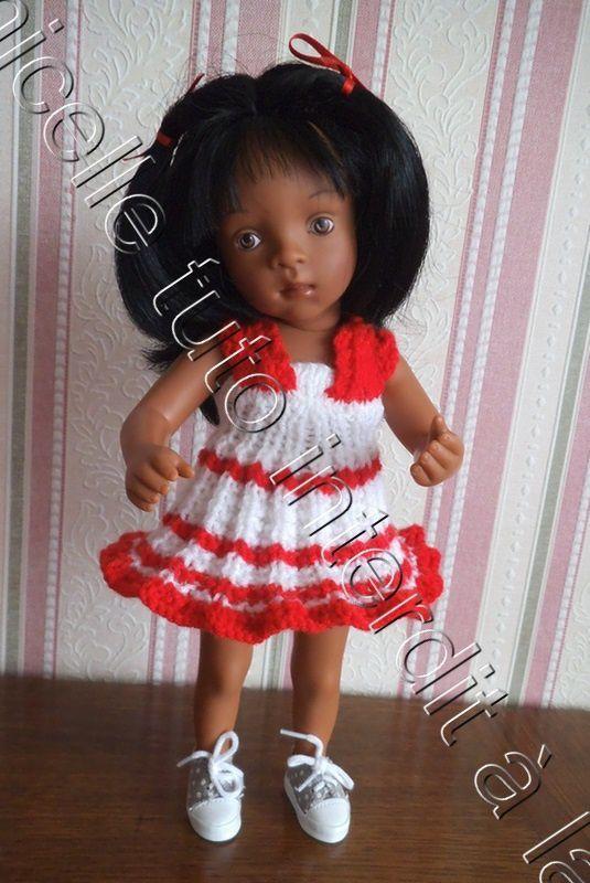 tuto gratuit poupée : robe d'été en trompe l'oeil