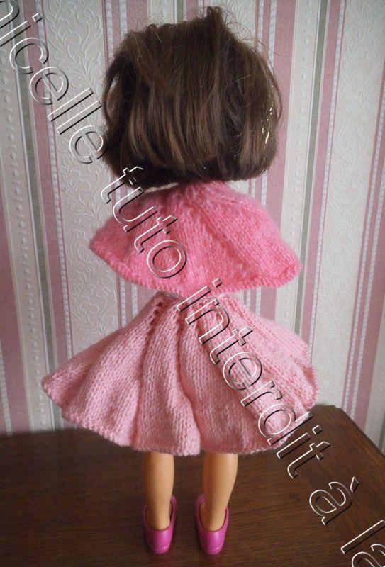 tuto gratuit poupée : châle ammonite pour grandes poupées