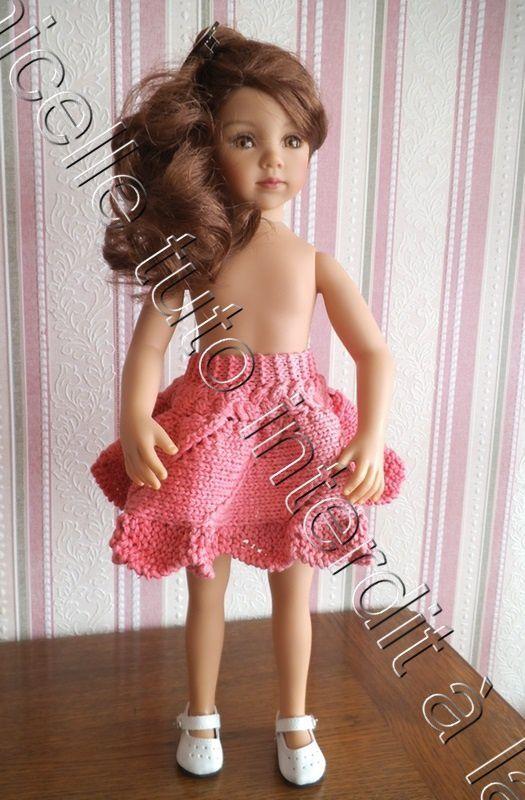 tuto gratuit poupée : jupe ajourée et bord tulipe