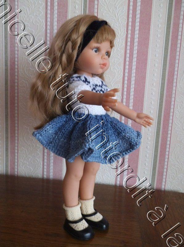 tuto gratuit poupée : jupe tourbillon d'automne