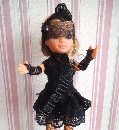 tuto gratuit poupée; tenue gothique pour Nancy ; défi de Dane