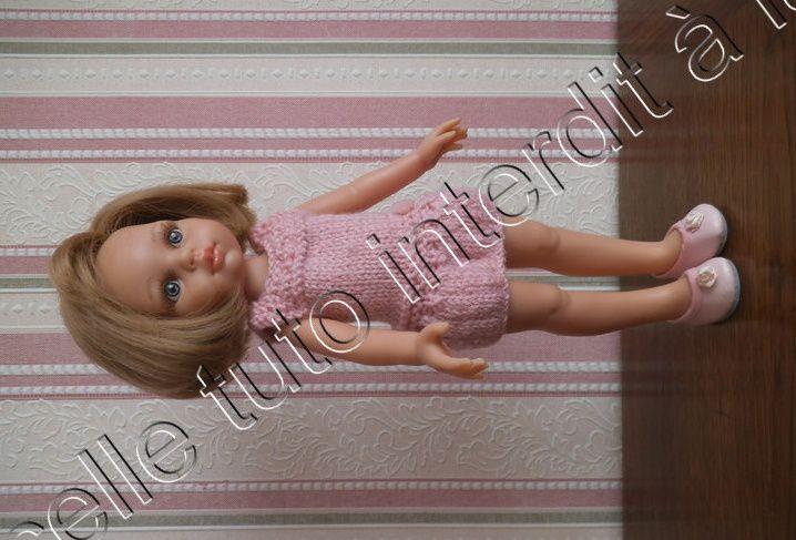 tuto gratuit poupée : robe taille basse ; défi de Dane