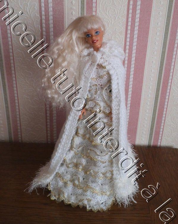 tuto gratuit Barbie  : cape châtelaine ; défi de Pipiou