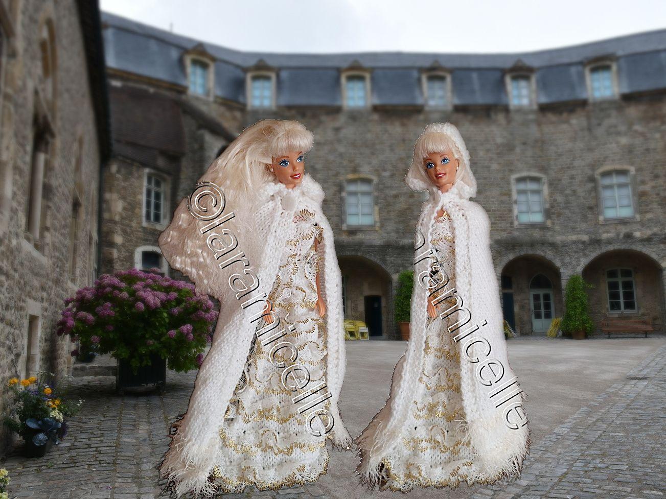 Barbie dans la cour du château de Boulogne/mer