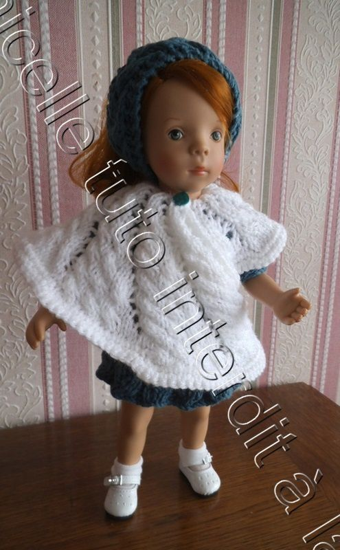 tuto gratuit poupée : cape modèle ammonite ; défi de Pipiou, défi de Dane