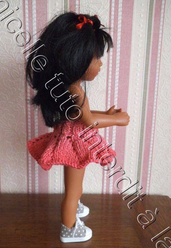 tuto gratuit poupée : jupe féminine