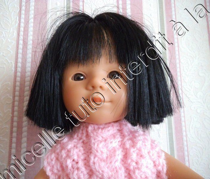 tuto gratuit poupée : pull sans manche et à col cheminée tressé- sans couture -