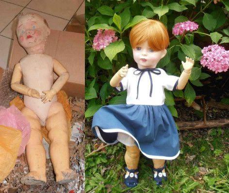 la renaissance d'une poupée ; formidable métamorphose chez Amielie