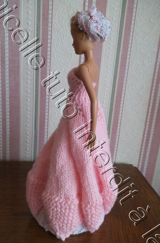 tuto gratuit Barbie : robe de princesse Rose