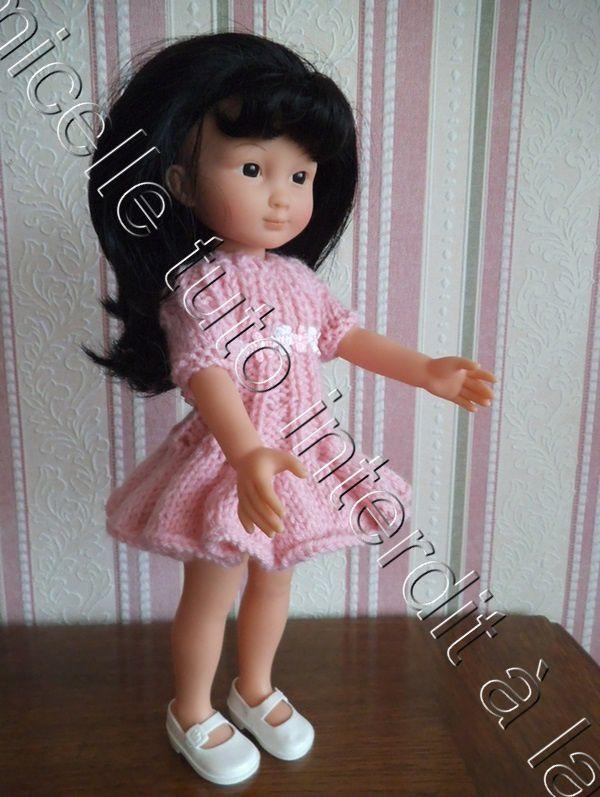 tuto gratuit poupée  : robe à godets