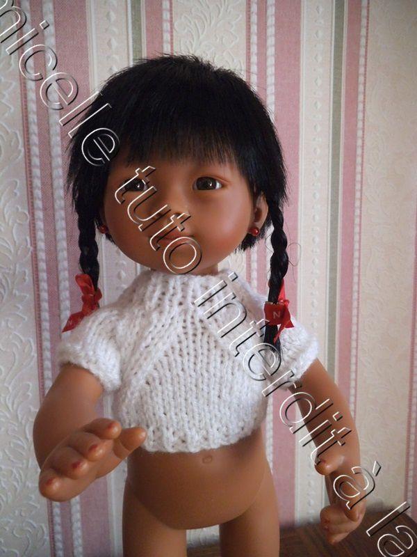 tuto gratuit poupée : pull raglan