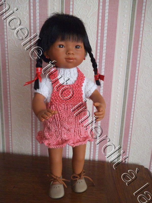 tuto gratuit poupée : robe salopette