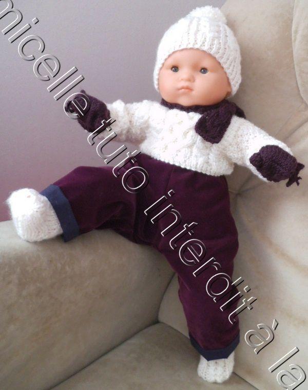 tuto gratuit poupée et layette 1 mois  : bonnet à pompon - défi de Dane