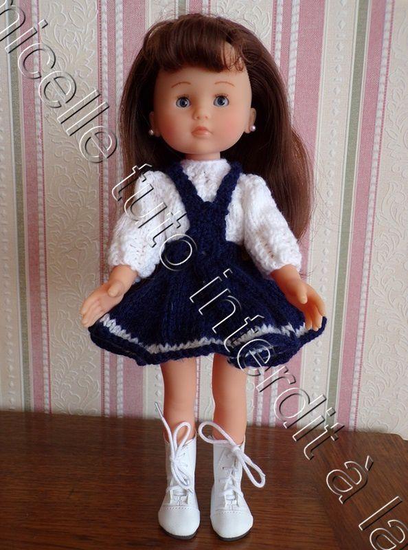 tuto gratuit poupée : pull aux côtes fantaisie ; entièrement boutonné défi de Dane
