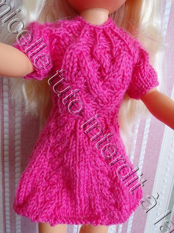 tuto gratuit poupée : robe torsadée