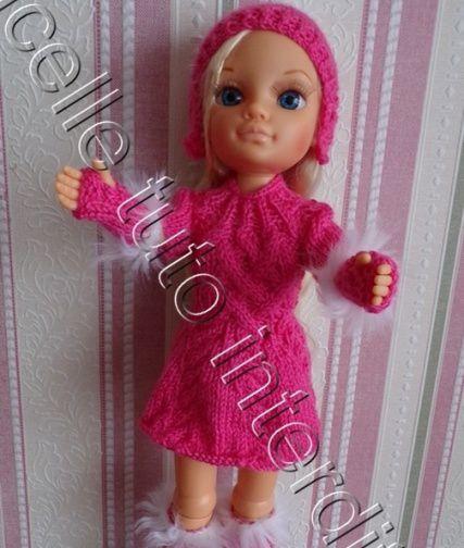 tuto gratuit poupée : mitaines avec fausse fourrure ,  pour débutantes  ; défi de Dane