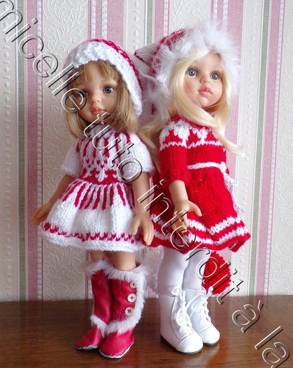 tuto gratuit poupée : bonnet de Noël à deux pointes