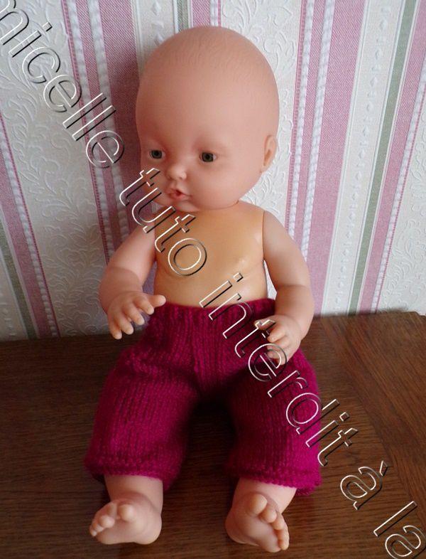 tuto gratuit poupée  : pantalon avec de véritables poches plaquées