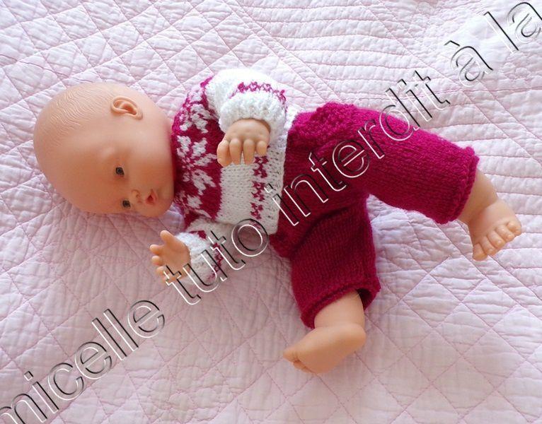 tuto gratuit poupée : pull étoilé