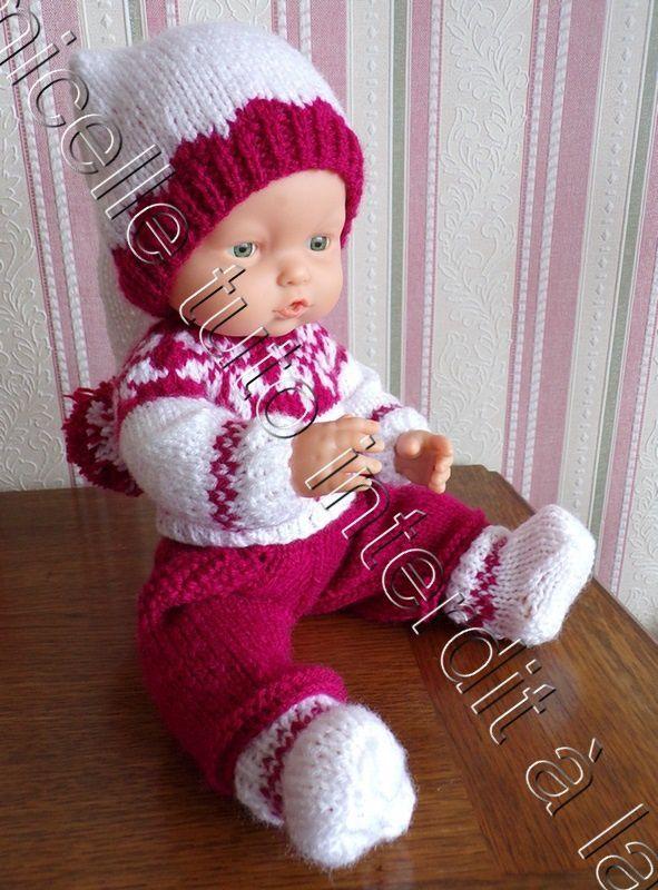 tuto gratuit poupée  : bonnet de  lutin bicolore