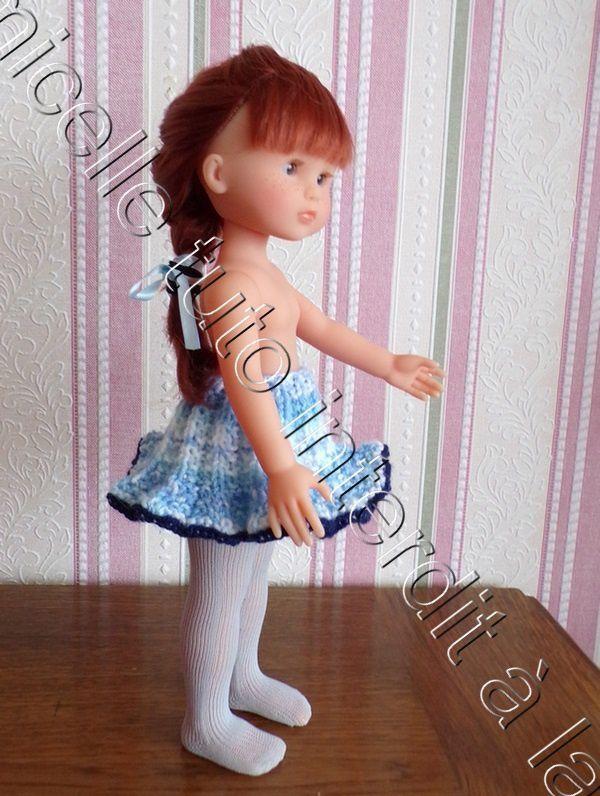 tuto gratuit  poupée  : jupe plissé soleil