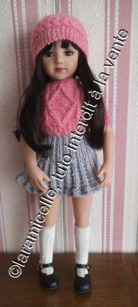 tenues d'hiver  pour grandes poupées