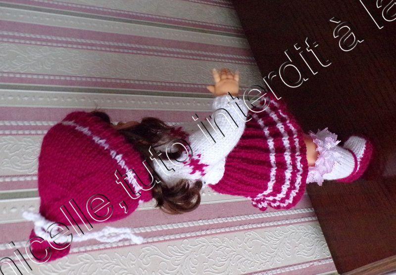 tuto gratuit  poupée  :  bonnet fantaisie