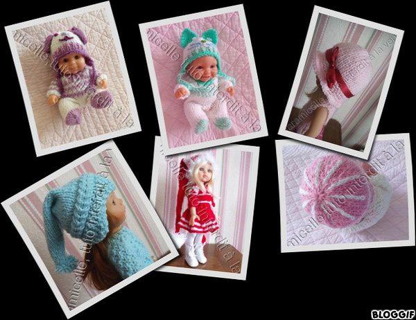 tutos gratuits poupées : divers  modèles