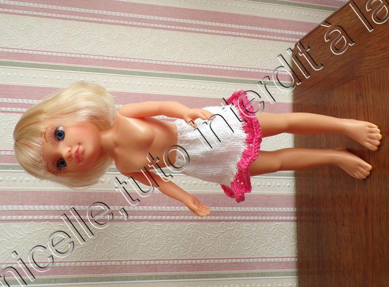 tuto gratuit poupée :  jupe  volantée