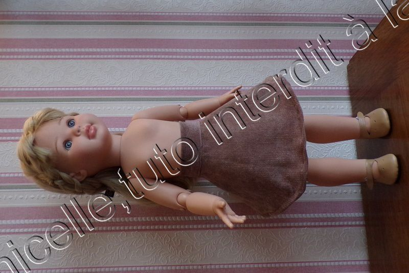 tuto gratuit poupée couture facile  : jupe ample