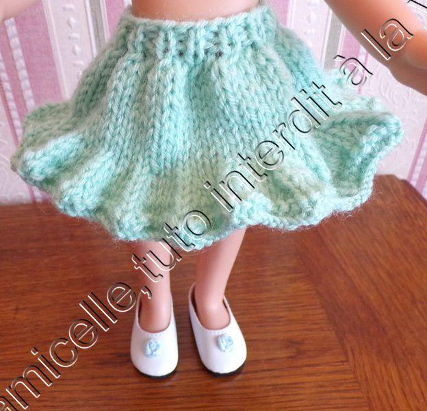 tuto gratuit  poupée  : jupe à la bordure en  pointes