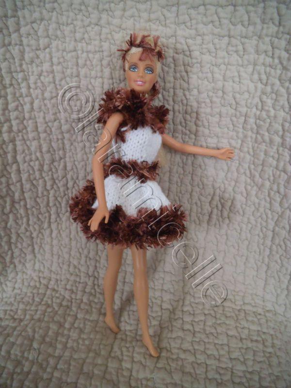 tuto gratuit barbie: robe neige fauve dorée
