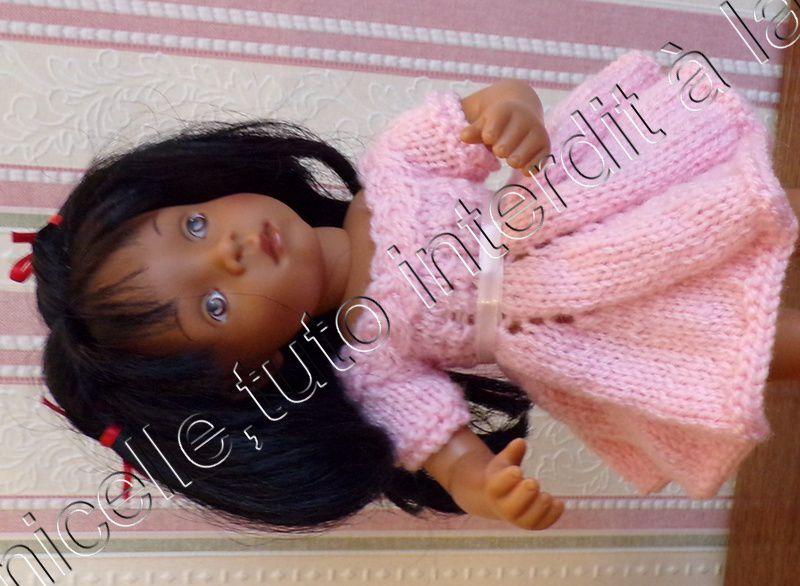 tuto gratuit  poupée  :  robe tourbillon à la tresse