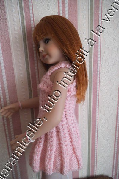 tuto gratuit poupée : robe à la tresse
