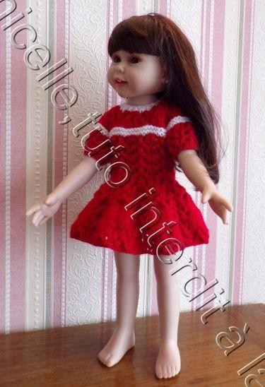 tuto gratuit  poupée  :  robe ajourée