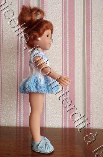 tuto gratuit  poupée  : robe bicolore  pour le printemps