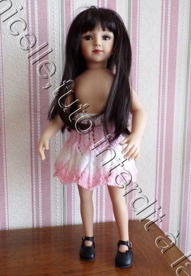 tuto gratuit  poupée  : jupe ajourée bord dentelé