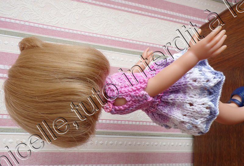 tuto gratuit  poupée  : petit haut estival aux manches fendues