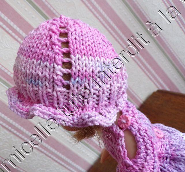tuto gratuit poupée  : petit chapeau ajouré pour l'été