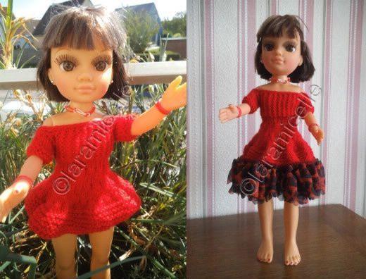 tuto gratuit poupée nancy : une robe trois versions
