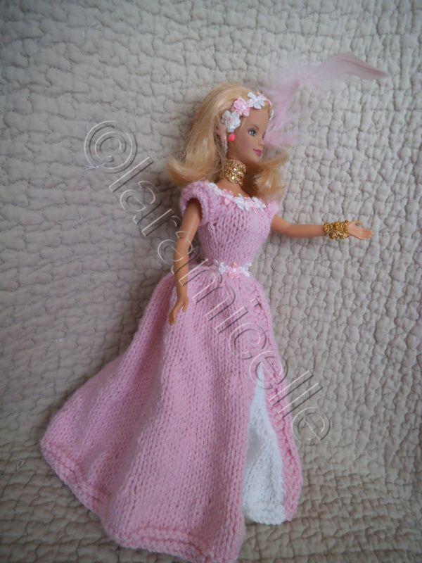"""tuto gratuit barbie: robe de princesse """"Corinne"""""""