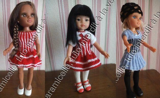tutos gratuits poupée  : robes cintrées
