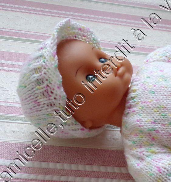 tuto gratuit  poupée  : casquette en jersey et  mousse